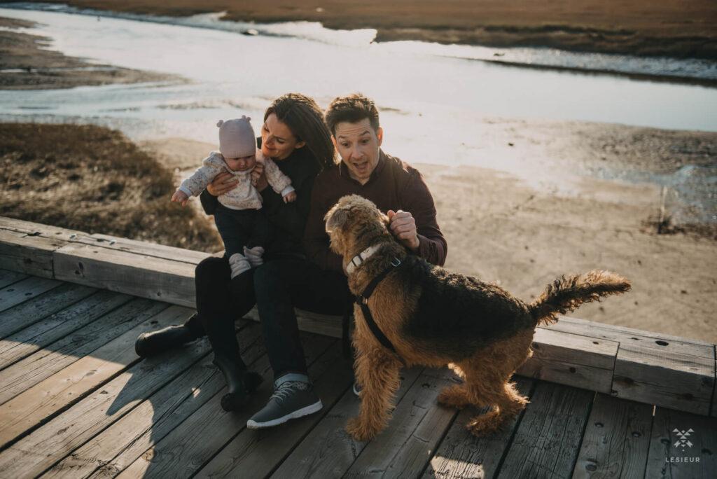 Je partage avec vous quelques coups de cœur de cette séance avec Julie et son amoureux, cette fois ils sont accompagnés de la petite Marine et de leur chien Margot.